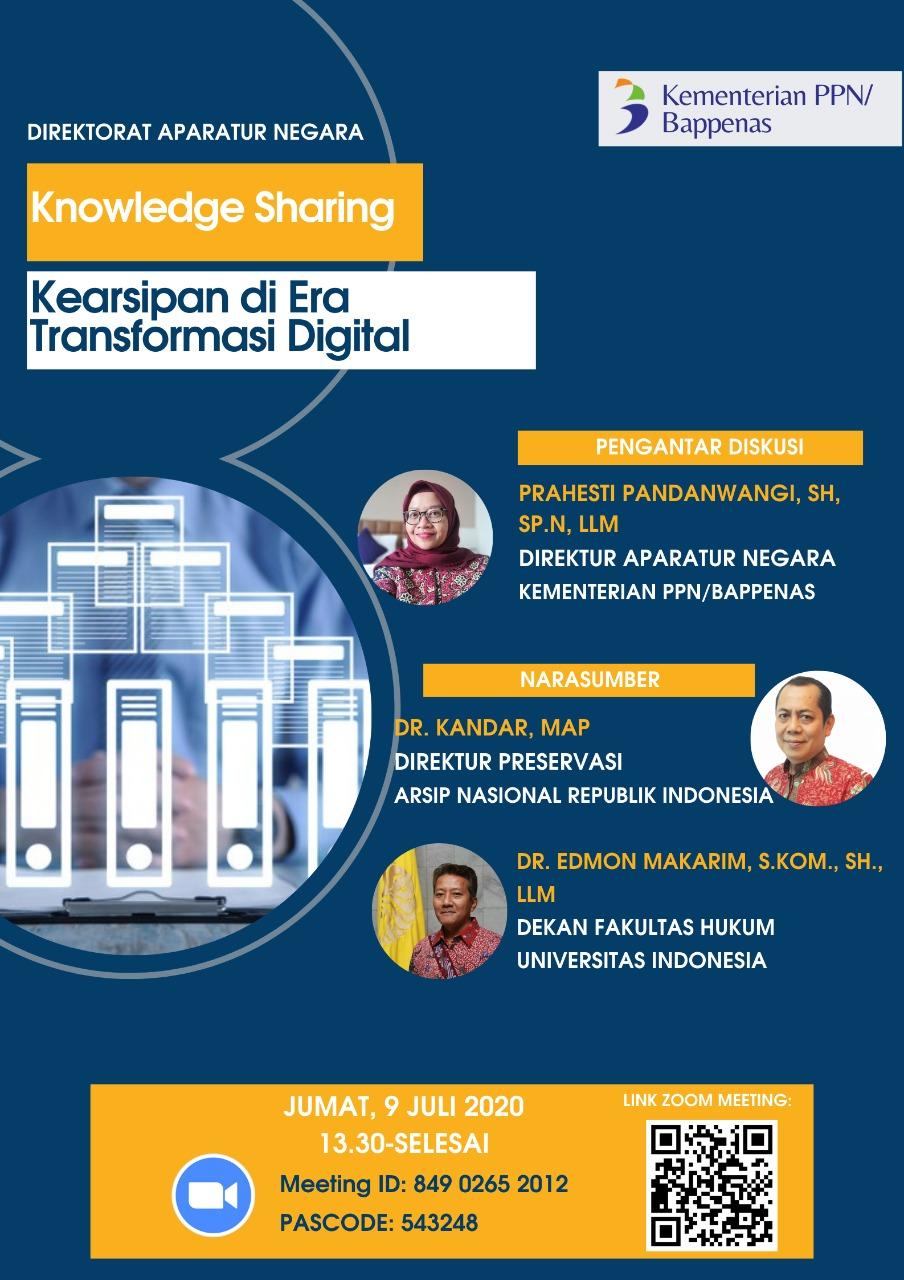 Knowledge Sharing Kearsipan di Era Transformasi Digital